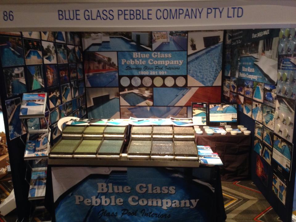 Media blue glass pebble company for Splash pool show gold coast