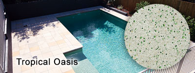 Tropical Oasis Glass Pebble Photo Gallery